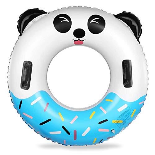Schwimmring Miotlsy Aufblasbarer Schwimmring Schwimmreifen , Pool Schwimmer, Sommer Schwimmreifen für Erwachsene und Kinder, Strand, Schwimmbad, Pool Schwimmer 70CM ( Panda )