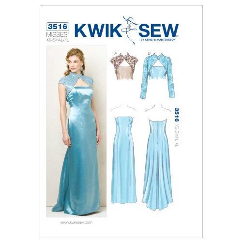 Kwik Sew K3516 Dress and Jackets Sewing Pattern, Size XS-S-M-L-XL