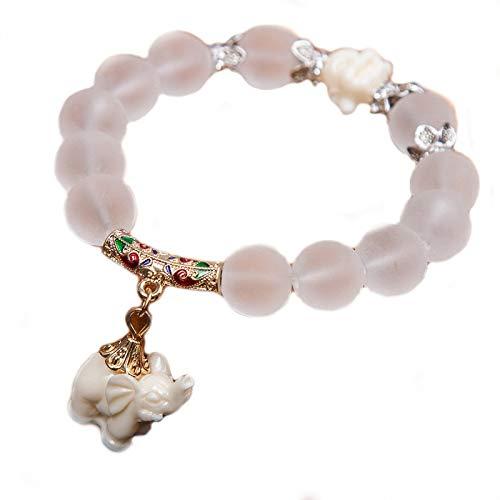 Exinox armband met Tibetaanse parels, Boeddha India, Boeddha en olifant