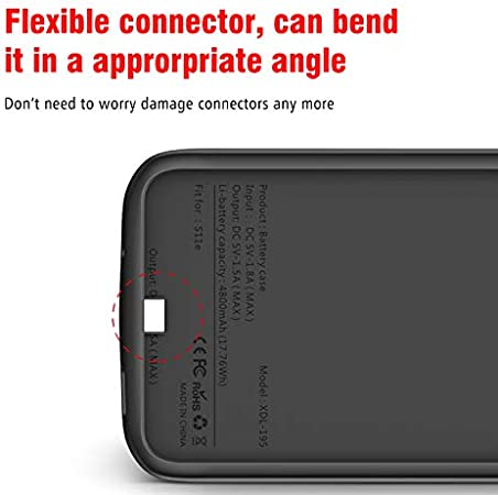 Slim External power bank For Samsung Galaxy Note 20 TPU shockproof Charging cover,6000mAh Note 20 Ultra-Black battery charger caseFor Samsung Galaxy Note 20 Ultra