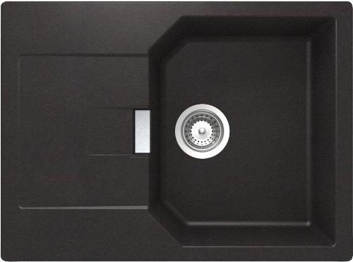 Schock Küchenspüle Manhatten D-100S, Auflage in Nero