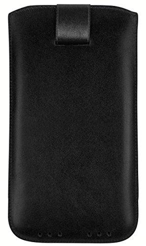 mumbi Echt Ledertasche kompatibel mit Lenovo Moto G5 Plus Hülle Leder Tasche Case Wallet, schwarz