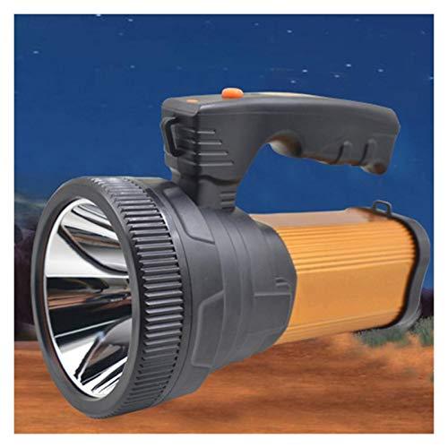 Suchscheinwerfer USB Taschenlampe Wiederaufladbare Handscheinwerfer Suche Outdoor Outdoor-Gadgets for Walking Patrol (Color : Orange)