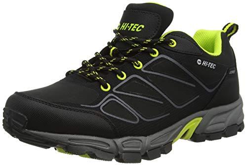 Hi-Tec Men's Ripper Low WP Walking Shoe, Black/Limoncello, 11 UK