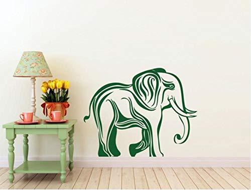 Muurtattoo, 57 x 80 cm, jungle, dieren, olifant, wandlamp, PVC, moderne woondecoratie, waterdicht, zelfklevend, creatief