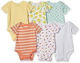 Amazon Essentials Baby Mädchen Strampler, kurzärmelig, 6er-Pack, Mehrfarbig (Girl Fruit), 40 cm (Herstellergröße: Preemie)