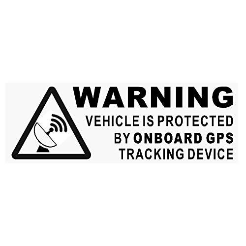 Platina Plaats 5 x WAARSCHUWING Aan boord GPS Tracking Device Stickers-ZWACK-Auto, Van,Boot, Teken, Veiligheid, Bescherming, Veiligheid, Alarm, Dash