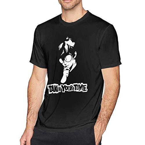 JeccLife Cotone a Maniche Corte da Uomo,Anime Persona 5 Please Take Your Time T-Shirt