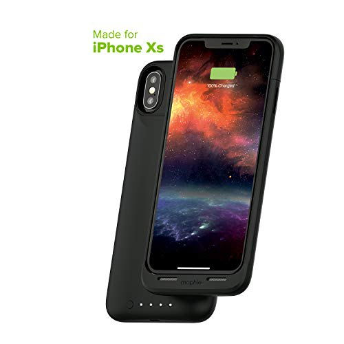 mophie Juice Pack Air - Mfi Certified - Wireless Charging - Protective Battery Pack Case for Apple iPhone Xs/X - Black