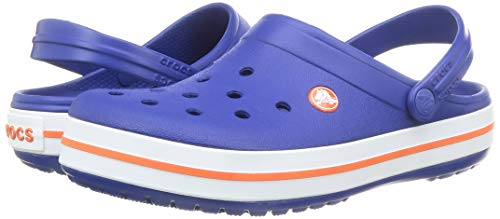 Crocs Crocband Clog Kids Unisex Niños Zuecos, Azul (Cerulean Azul), 34/35 EU