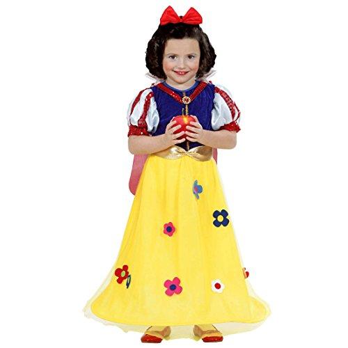 Amakando Disfraz de princesa para nios, 104 cm, 2  3 aos, vestido de cuento de hadas, disfraz de Blancanieve, disfraz de carnaval, disfraz de cuento de hadas de Disney