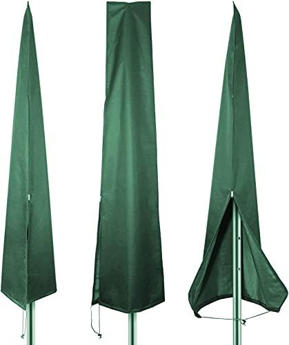 PATIO PLUS Copertura per ombrellone per Ombrellone Impermeabile Traspirante Copertura alla Protezione per Ombrellone da Giardino da 3m a 3,5m Verde