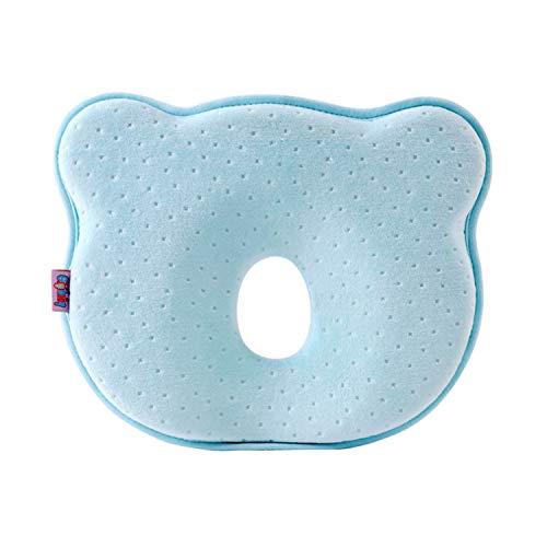 Almohada Bebe, Almohada Para Dar Forma a la Cabeza Del Bebé Almohada Para Dormir Suave y Transpirable Soporte Para el Cuello Para 0-18 Meses Recién Nacido Prevenir la Cabeza Plana C