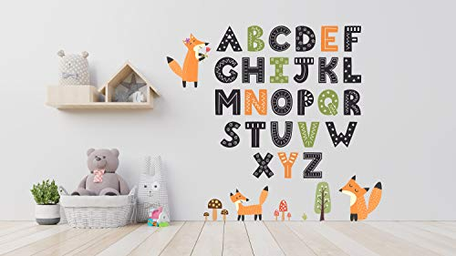 Generic Branded Wall Tattoo Alphabet ABC Animal Letter Colourful Highest Quality [trag1] Sticker Decoration for Chicken