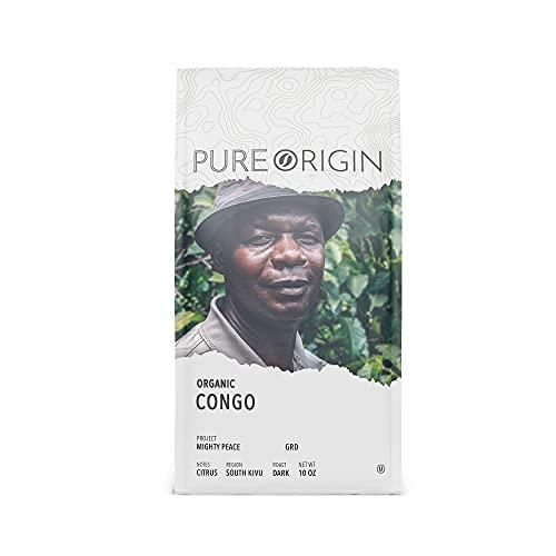 Pure Origin Coffee - Organic Congo - Ground, Dark Roast, Ethically Sourced, Single Origin Coffee (10 oz.)