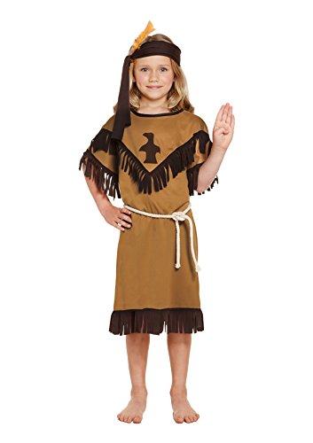 Disfraz de niña India Americana para niños Talla Grande Edad 10-12 años