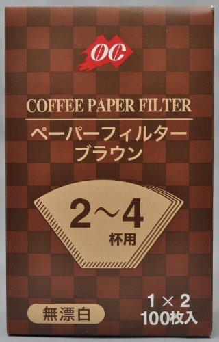 小川珈琲 OC コーヒーフィルター 無漂白 ブラウン (100枚入)×5袋