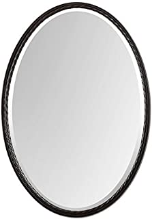 Uttermost 01116 Casalina Oil Rubbed Oval Mirror, Bronze by Uttermost