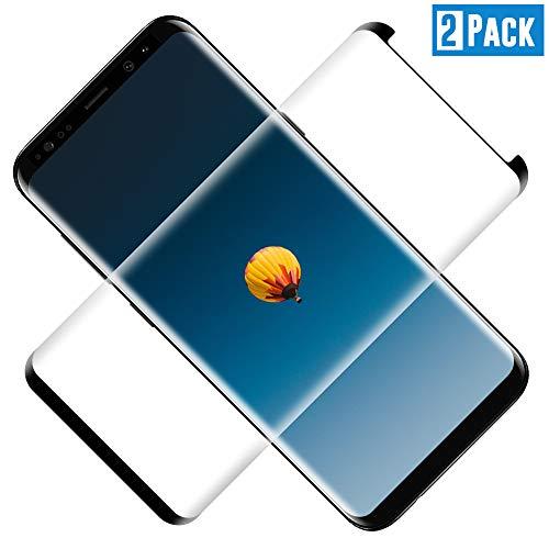 TOCYORIC Protector de Pantalla para Samsung Galaxy S9 Plus[2 Pack], 3D Curvo Full-Cover Cristal Templado Galaxy S9+, Alta Definicion, 9H Dureza, Resistente a Arañazos, Vidrio Templado para S9 Plus