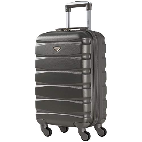 Flight Knight Lightweight 4 Wheel ABS Hard Case Suitcases Cabin Carry On Hand Luggage Approved for Over 100 Airlines Including easyJet, British Airways, RyanAir, Virgin Atlantic, Emirates & Many More
