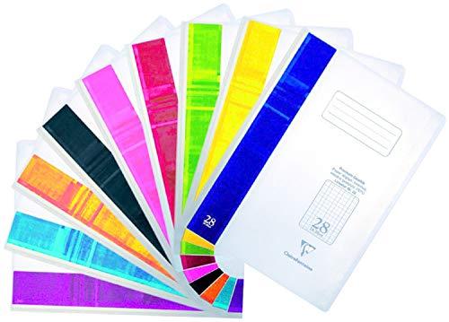 Clairefontaine 973228C Schulheft Koverbook, indiviudalisierbar, perfekt für Ihre Organisation, DIN A4, 21 x 29,7 cm, 16 Blatt, 90g,  durchgehend kariert mit 2 Rändern, 1 Stück, transparent