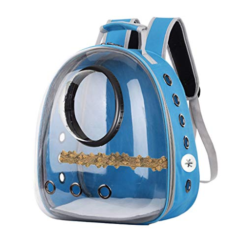 Parrot Carrier Backpack Travel Cage Birds Breathable Transparent Space Capsule