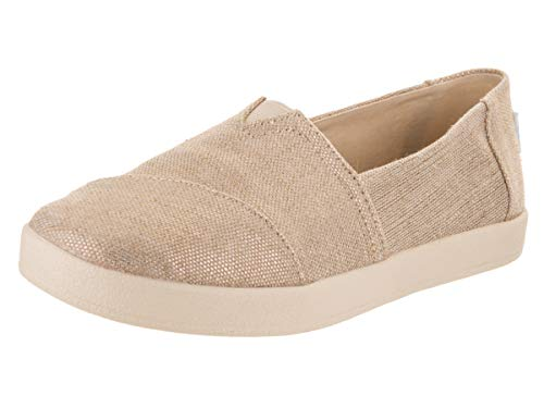 TOMS Rose Gold Metallic Woven Women's Avalon Slip-Ons 10012400 (Size: 8.5)