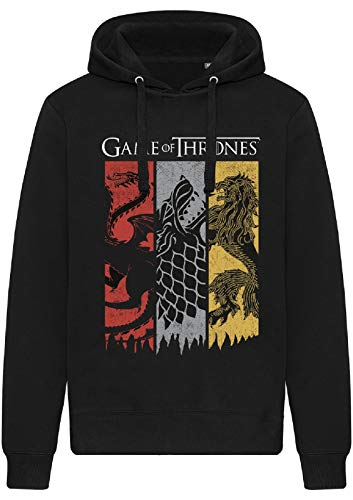 Game of Thrones - Sudadera con capucha y sin bolsillos Negro XL