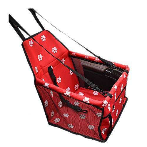 Asiento Portable del Perro del Asiento de Coche para Mascotas Elevador para automóvil con Correo Clip-On de Seguridad y Blanket para pequeños Animales domésticos Rosa