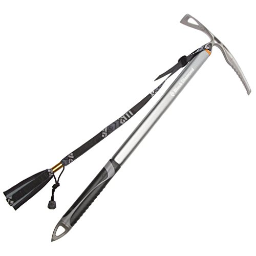 Black Diamond Raven Ice Axe with Grip - Anodized Light Gray
