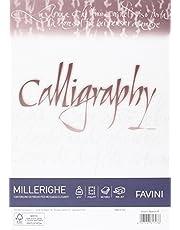 Carta pergamena Calligraphy Millerighe Rigato Favini bianco fogli A4 200 g A690324 (conf.50)