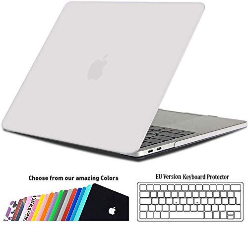 iNeseon Hülle für MacBook Pro 13 (2019 2018 2017 2016 Freisetzung), Plastik Hartschale Case Schutzhülle und Tastaturschutz für MacBook Pro 13 Zoll (A2159 A1989 A1708 A1706), Matt Transparent