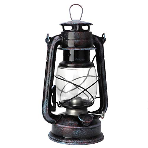 Hilitand Lámpara de keroseno de Estilo Europeo Retro de 24 cm Lámpara de Aceite de Linterna de keroseno de época Luces portátiles para Acampar al Aire Libre