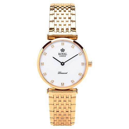 Royal London Ladies Reloj de Mujer Fecha Cuarzo Diamantes Oro 21341–05