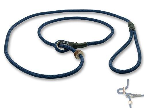 Mystique® Field trial Moxonleine Retrieverleine 6mm 130cm mit Zugbegrenzung blau