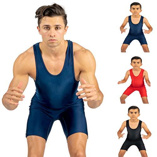 Solid Navy Blue wrestling singlet size XL