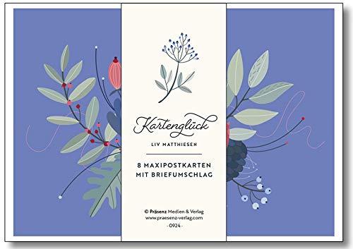 Maxi-Postkarten-Serie Kartenglück: 8 Maxipostkarten mit Umschlägen von Liv Matthiesen