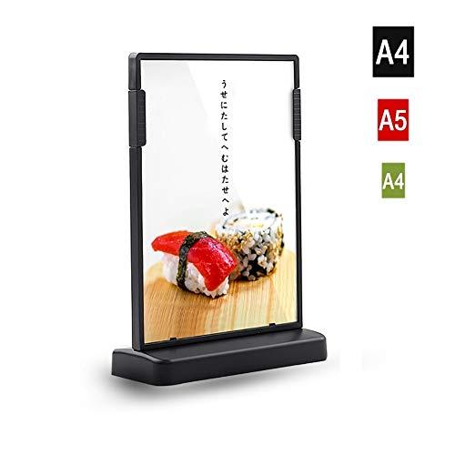 LUNANA A4 acryl standaard reclamebord staander menukaartenhouder brochurehouder voor papieren brochures weergeven op tafel - A4/A5/A6