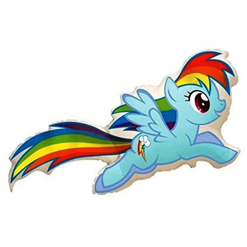 Ballonim® My Little Pony Rainbow Dash ca. 80cm Luftballons Folienballon Party Dekoration Geburtstag