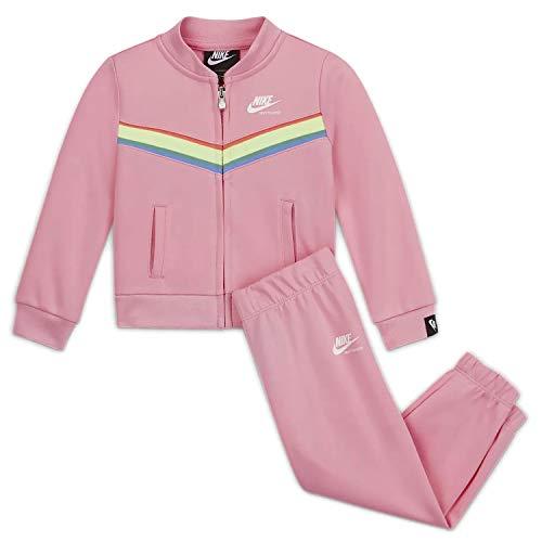 Nike 36G732-A8F Tuta due pezzi Pantalone e Felpa con cerniera Bambina (6-7 Anni)