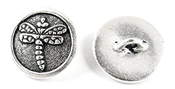 TierraCast Pewter Buttons-FINE SILVER PLATED DRAGONFLY  2