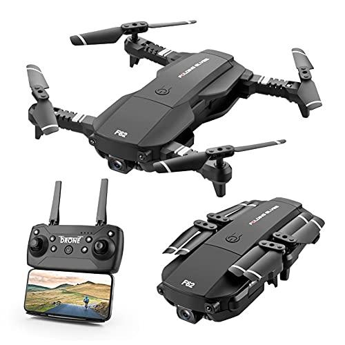 MAFANG Drone Plegable GPS con Cámara 4K HD Avión con WiFi FPV Control Remoto Modo Sin Cabeza RC Quadcopter Drone, Sensor De Gravedad, para Niños, Adultos Y Principiantes,Negro