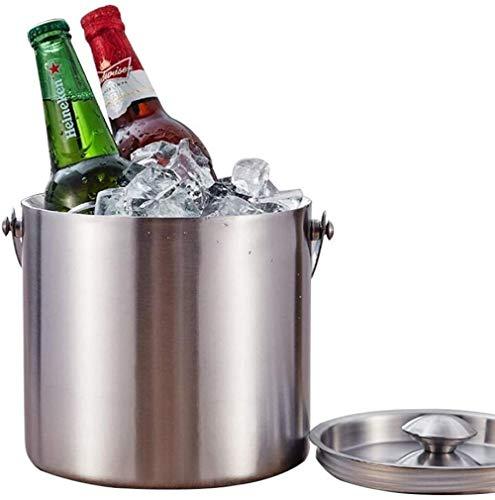 Bicchieri per feste Eventi Secchiello per ghiaccio in acciaio inossidabile Secchiello per champagne Adatto per barbecue Feste Bar Club Ristoranti Secchiello per cubetti di ghiaccio grande coibentato-3
