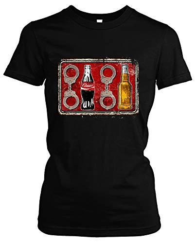 Acht Cola Acht Bier Damen Girlie T-Shirt   Fussball 1312 ACAB Hooligan Ultra (XL)