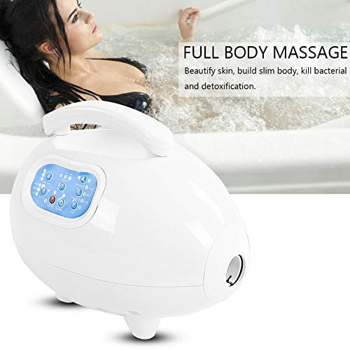 Electric Bathtub Bubble Massage Mat, Waterproof Tub Massaging Spa Portable Non-Slip Suction Cup Bottom with Remote Control Adjustable Bubble Settings