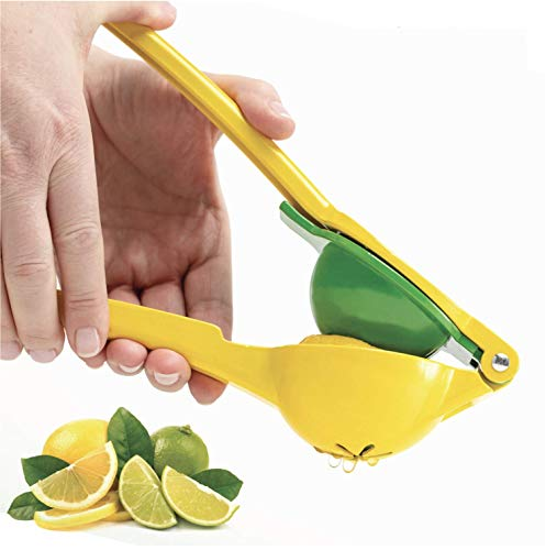 Gorilla Grip Premium Lemon Lime Citrus Squeezer, Patent Pending Design, Dishwasher Safe, No Pulp or Seeds, Long Handle, Heavy Duty Manual Hand Juicer Press, Limes, Lemons Fruit, Juicing Kitchen Tool