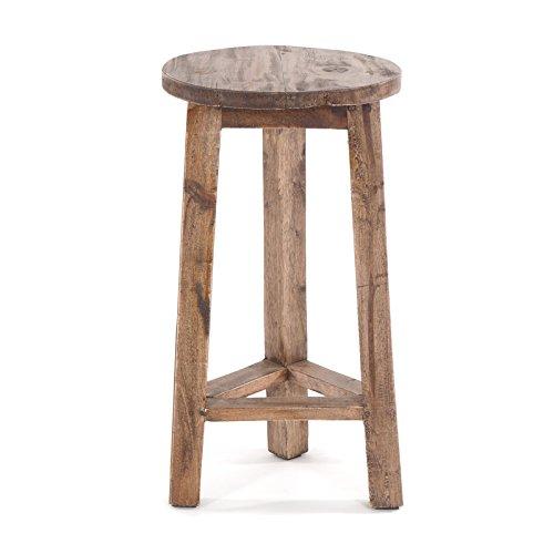 DESIGN DELIGHTS Holz BEISTELLHOCKER Log | 51x27cm(HxB), braun | extra hoher Sitzhocker, Barhocker, Blumenhocker, runder Hocker