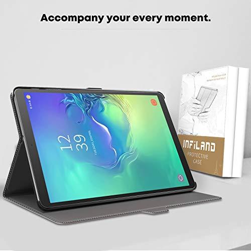 INFILAND Hülle für Samsung Galaxy Tab A 10.1 2019, Slim Ultraleicht Halten Schutzhülle Hülle kompatibel mit Samsung Galaxy Tab A 2019 (T510/T515) 10.1 Zoll,Rosa Goldene