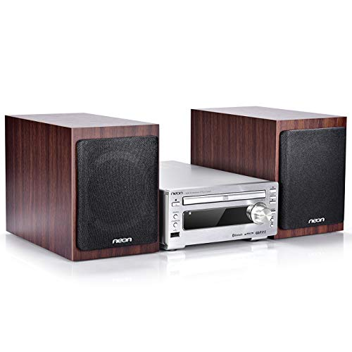 Bluetooth Stereo System - Music Streaming System w/ CD Players, FM Radio, MP3, SD Slot, USB, Remote Control, AUX, Headphone Jack, HiFi Digital Audio System Perfect for Home Cinema, MCB1533