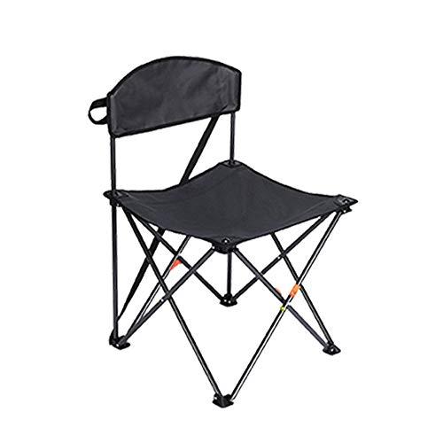 Silla Plegable Camping Silla Portátil Al Aire Libre con Bolsa De Transporte, 29.19.7in, Ideal para Jardín, Playa, Pesca, Camping, Viajes, Senderismo (Color : Black)